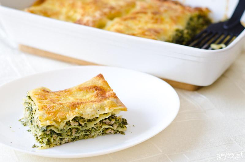 Lasagne ze szpinakiem i mięsem