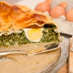 Placek wielkanocny z jajami