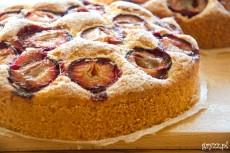 Ciasto ucierane ze śliwkami – 2 tortownice 22 cm