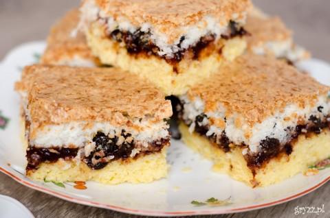 Ciasto kokosowo-śliwkowe